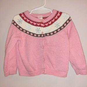 Vintage Gymboree Winter Snowflake Button Sweater